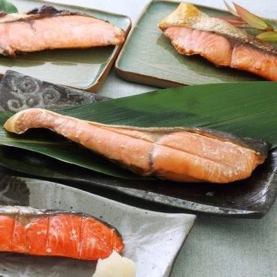 ブランド銀毛鮭「銀聖」ほか3種の鮭の切身セット【2倍増量】[B02-206]