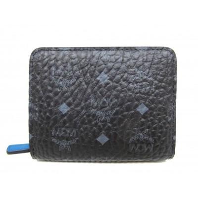 (新品)エムシーエム MCM ラウンドファスナー コンパクト 財布 7SVC85 二つ折り 財布 小銭入れ  8078