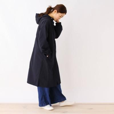 HusHusH(Ladies)(ハッシュアッシュ)/【撥水・防花粉/手洗いOK】ポリエステルタフタフーデットコート