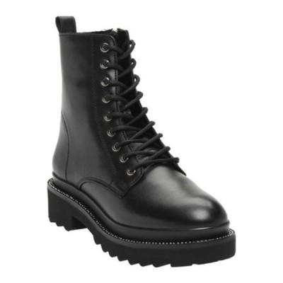 スティーブ マデン ブーツ&レインブーツ シューズ レディース Graham Combat Boot (Women's) Black Leather