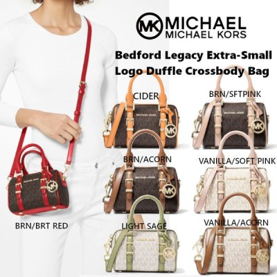 MICHAEL KORS マイケルコース Bedford Legacy Extra-Small Logo Duffle Crossbody Bag ショルダー モノグラム 斜めがけ 32F9G06C0B US正規品 送料無料 US直輸入