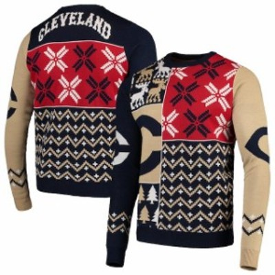 Forever Collectibles フォーエバー コレクティブル スポーツ用品  Cleveland Indians Navy Retro Sweater