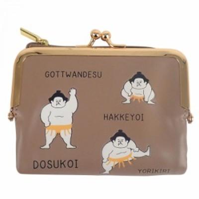 お相撲2つ折ガマ財布YE F208011-52