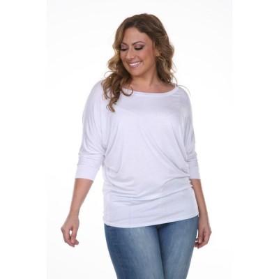 トップス ブラウス ホワイトマーク White Mark Women's Plus Size Wide Neck Tunic