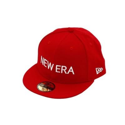 ニューエラ(NEW ERA) 59FIFTY NEW ERA スカーレット × ホワイト 12037934 (メンズ)