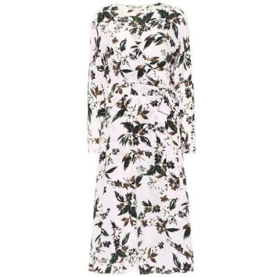 ダイアン フォン ファステンバーグ Diane von Furstenberg レディース ワンピース ラップドレス ミドル丈 Elle floral silk wrap midi dress