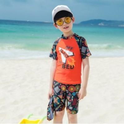 子ども服 男の子水着 キッズスクール 上下セット UVカット 練習用 水泳用品 マリンスポーツ スイムウェア 紫外線対策 プール