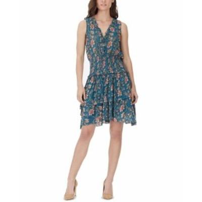 William Rast ウィリアムラスト ファッション ドレス WILLIAM RAST Blue Womens Size Medium M Smocked Floral Sheath Dress