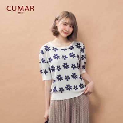 【CUMAR】花瓣設計-針織衫(三色)