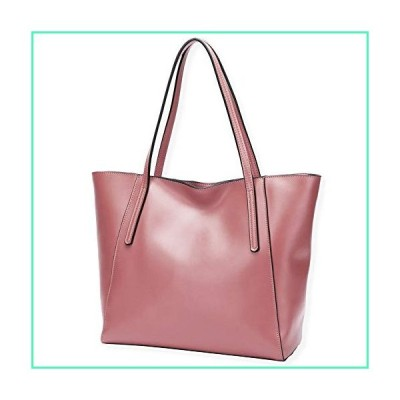 CHERRY CHICK Women's Cow Leather Everyday Tote Bag Large Purses and Shoulder Bag Birthday Gift (Cherry Blossom Pink-9816)並行輸入品