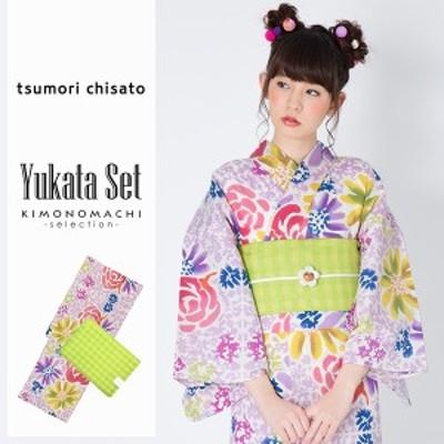 ツモリチサト 浴衣セット「バラと花」浴衣2点セット tsumori chisato 綿浴衣 女性浴衣セット [送料無料]ss2006ykl50