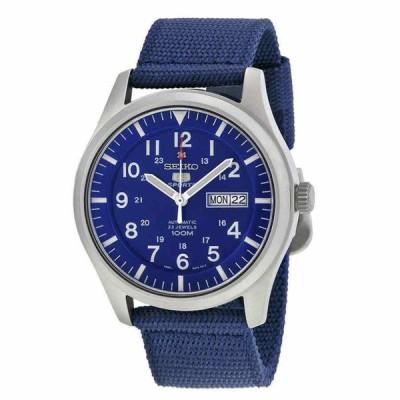 セイコー 腕時計 Seiko 5 Sport Automatic Navy Blue Canvas メンズ Watch SNZG11