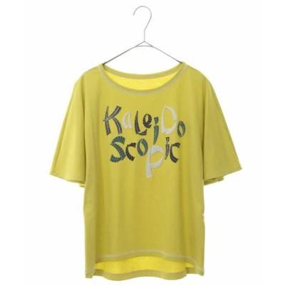 HIROKO BIS/ヒロコビス 【洗える/日本製】メッセージ入り刺繍Tシャツ イエロー 11