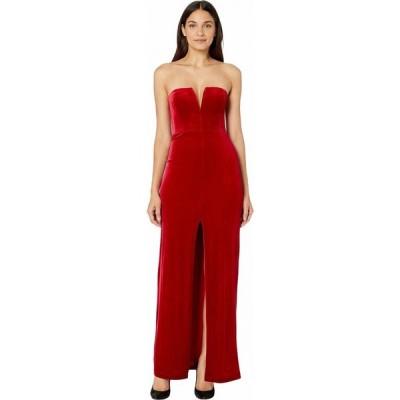 ビーシービージーマックスアズリア BCBGMAXAZRIA レディース パーティードレス ワンピース・ドレス Strapless Velvet Gown Passion Red