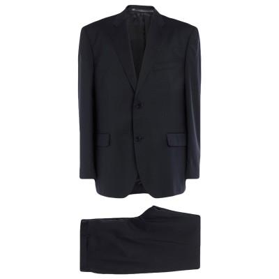 ANGELO NARDELLI スーツ ダークブルー 58 バージンウール 100% スーツ
