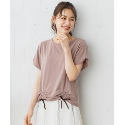 【おうち時間に】レースアップフェミニン Tシャツ