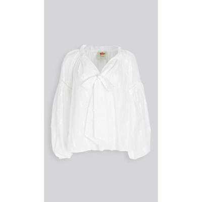 ファーム FARM Rio レディース ブラウス・シャツ トップス pineapple blouse White