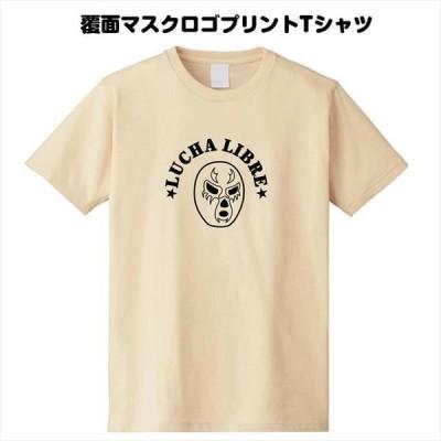覆面マスクロゴプリントTシャツ