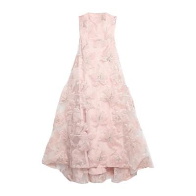 LANACAPRINA ロングワンピース&ドレス ライトピンク 38 ポリエステル 95% / 指定外繊維(その他伸縮性繊維) 5% ロングワンピー