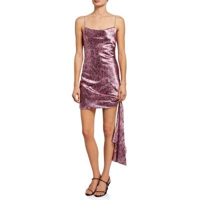 サンク ア セプト レディース ワンピース トップス Ryder Paisley-Print Tie Dress