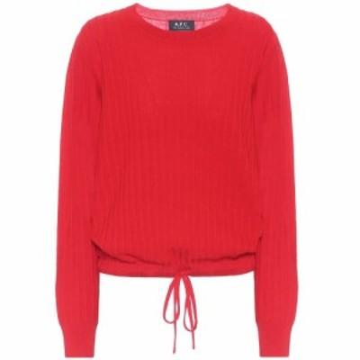 アーペーセー A.P.C. レディース ニット・セーター トップス Taeko merino wool sweater Rouge