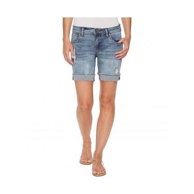 KUT from the Kloth カットフロムザクロス レディース 女性用 ファッション ショートパンツ 短パン Catherine Boyfriend Shorts in Agreed/Medium Base Wash -