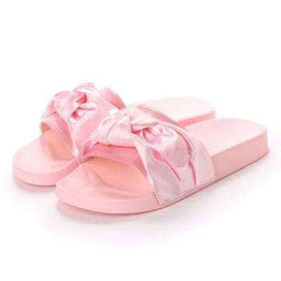 ヌーベルヴォーグ リラックス NOUBEL VOUG Relax サテンリボンフラットサンダル (ピンク)