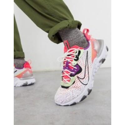 ナイキ メンズ スニーカー シューズ Nike React Vision sneakers in off white/pink White/pink