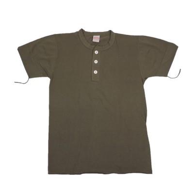 HEALTHKNIT / ヘルスニット 906S HENLEY NECK 半袖 ヘンリーネックTシャツ OLIVE