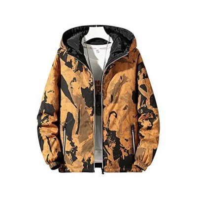 Jearey ダウンジャケット メンズ 中綿ジャケット 両面着 ジップジャケット インナーポケット ジップポケット フード付き 秋冬 中厚
