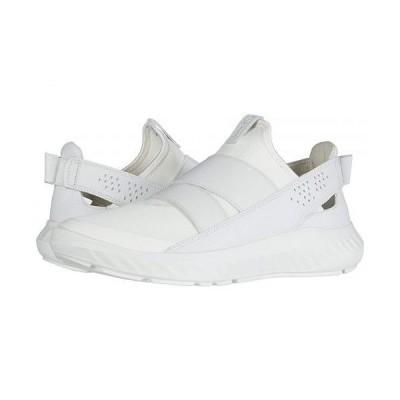ECCO エコー レディース 女性用 シューズ 靴 スニーカー 運動靴 ST.1 Lite Slip-On - White/White/White Textile/Textile/Cow Leather