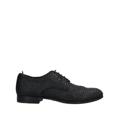 OPEN CLOSED SHOES レースアップシューズ  メンズファッション  メンズシューズ、紳士靴  その他メンズシューズ、紳士靴 ブラック