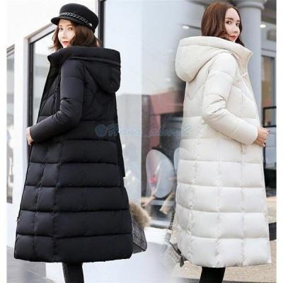 中綿ジャケット レディース ロング コート ダウンコート アウター フード付き スリム 冬 防寒服