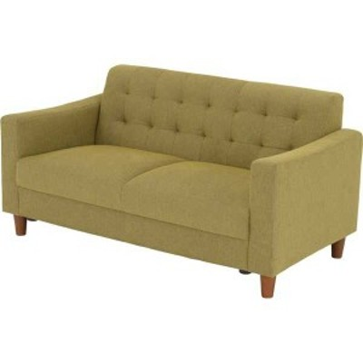 GREGLLY グレゴリー 2人掛け ソファー 幅125cm 座面高37cm グリーン 新生活 引越し 家具 メーカーより直送します ds-2187681