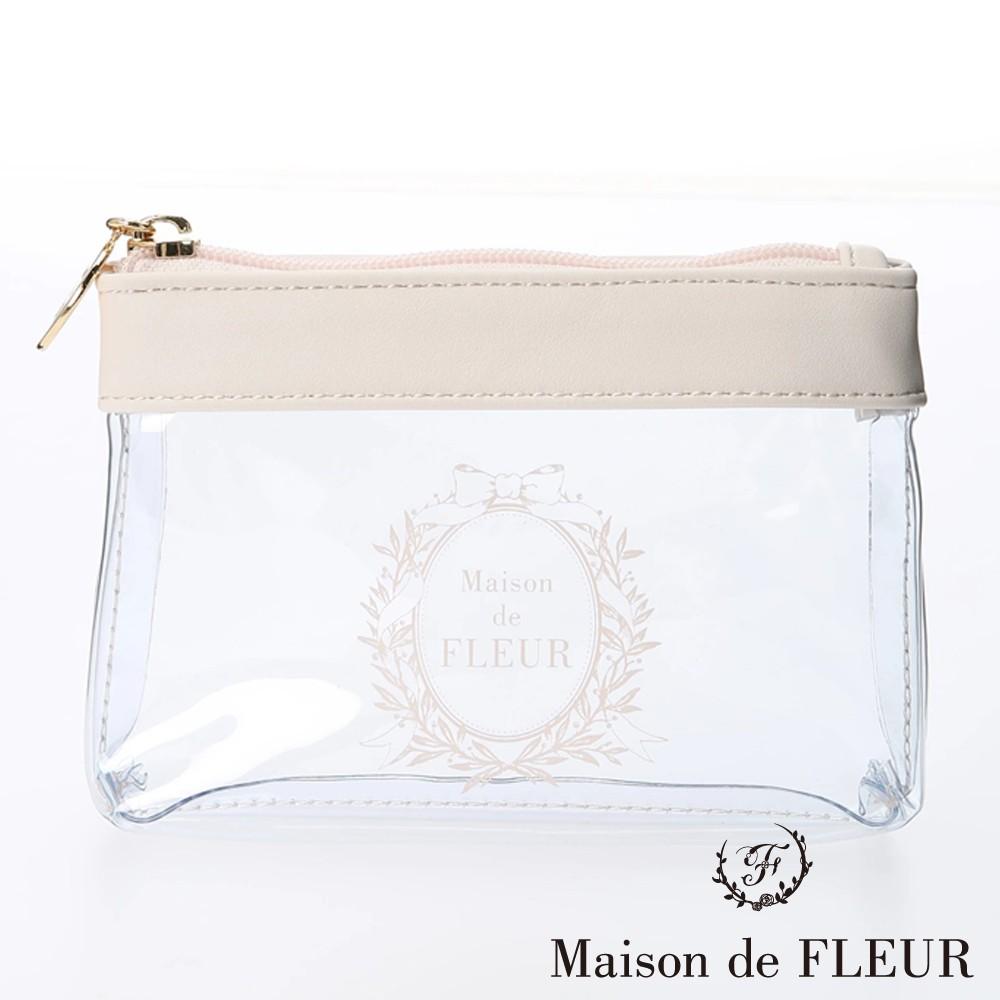 Maison de FLEUR LOGO打印設計透明化妝包(8A02FJJ1400)