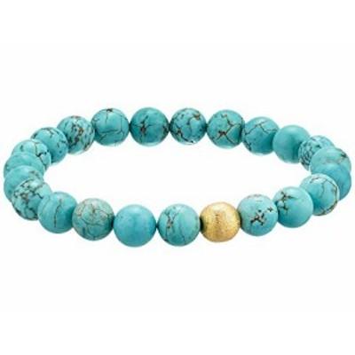 ディー バークレー メンズアクセサリ ブレスレット バングル Stabilized Turquoise Gemstone Beaded Bracelet