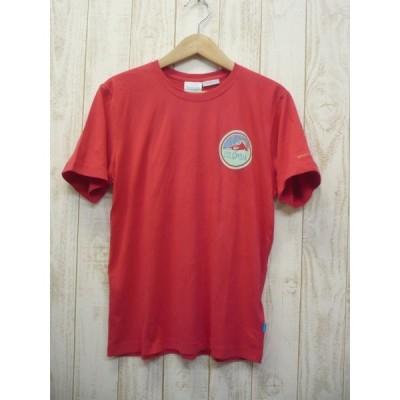 コロンビア メンズ RED-Mサイズ Tシャツ グレイシャーズメルト レッド 赤 半袖 速乾・吸汗 ドライ 登山 トレッキング 普段使用もOK