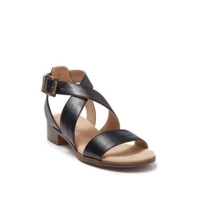 ライフストライド レディース サンダル シューズ Banning Cross Strap Flat Sandals - Wide Width Available BLACK