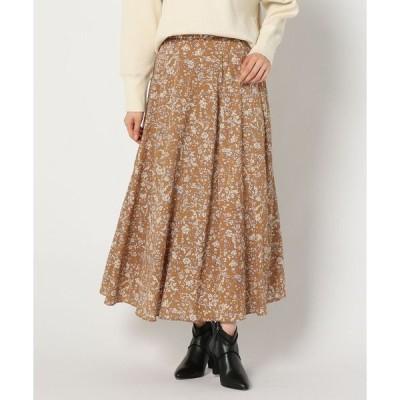 スカート 更紗柄プリントスカート