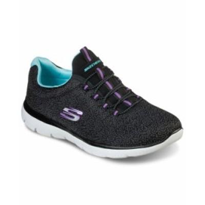 スケッチャーズ レディース スニーカー シューズ Women's Summits - Fresh Take Wide Width Walking Sneakers from Finish Line Black