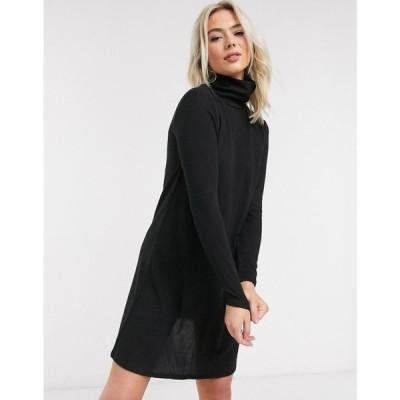 ジェイディーワイ JDY レディース ワンピース ミニ丈 ワンピース・ドレス mini dress with high neck in black ブラック
