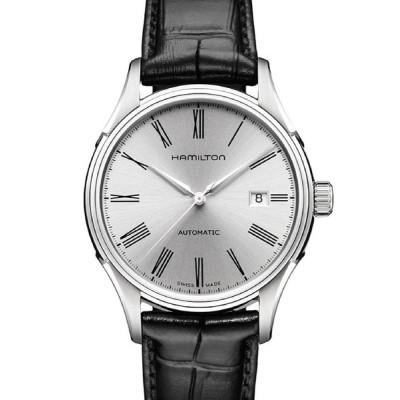 腕時計 HAMILTON [ハミルトン] 腕時計 Valiant (バリアント)  オート 自動巻き 40MM レザーベルト シルバー×ブラック