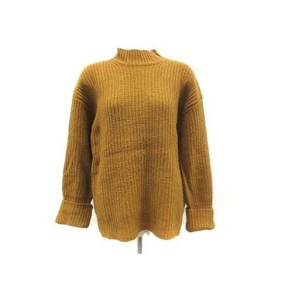 【中古】アーバンリサーチ URBAN RESEARCH ニット セーター ウール 長袖 F 黄色 /YI8 レディース 【ベクトル 古着】
