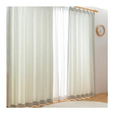 カーテン 遮光なし ドレープカーテン 形状記憶付き シンメトリー リーフ柄 幅100~200 丈90~230 国産 40サイズ展開 おしゃれ ウォッシャブル 代引不可