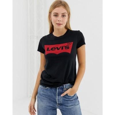 リーバイス Levi's レディース Tシャツ トップス perfect t-shirt with batwing logo
