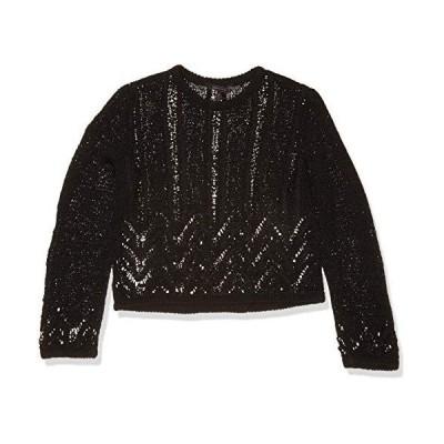 BCBGMAXAZRIA Women's Mixed Stitch Sweater, Black, XL (US 12)並行輸入品 送料無料
