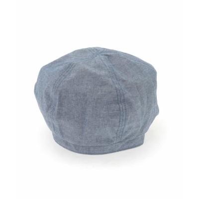 【アー・ヴェ・ヴェ】 シャンブレーベレー帽 メンズ ネイビー M a.v.v
