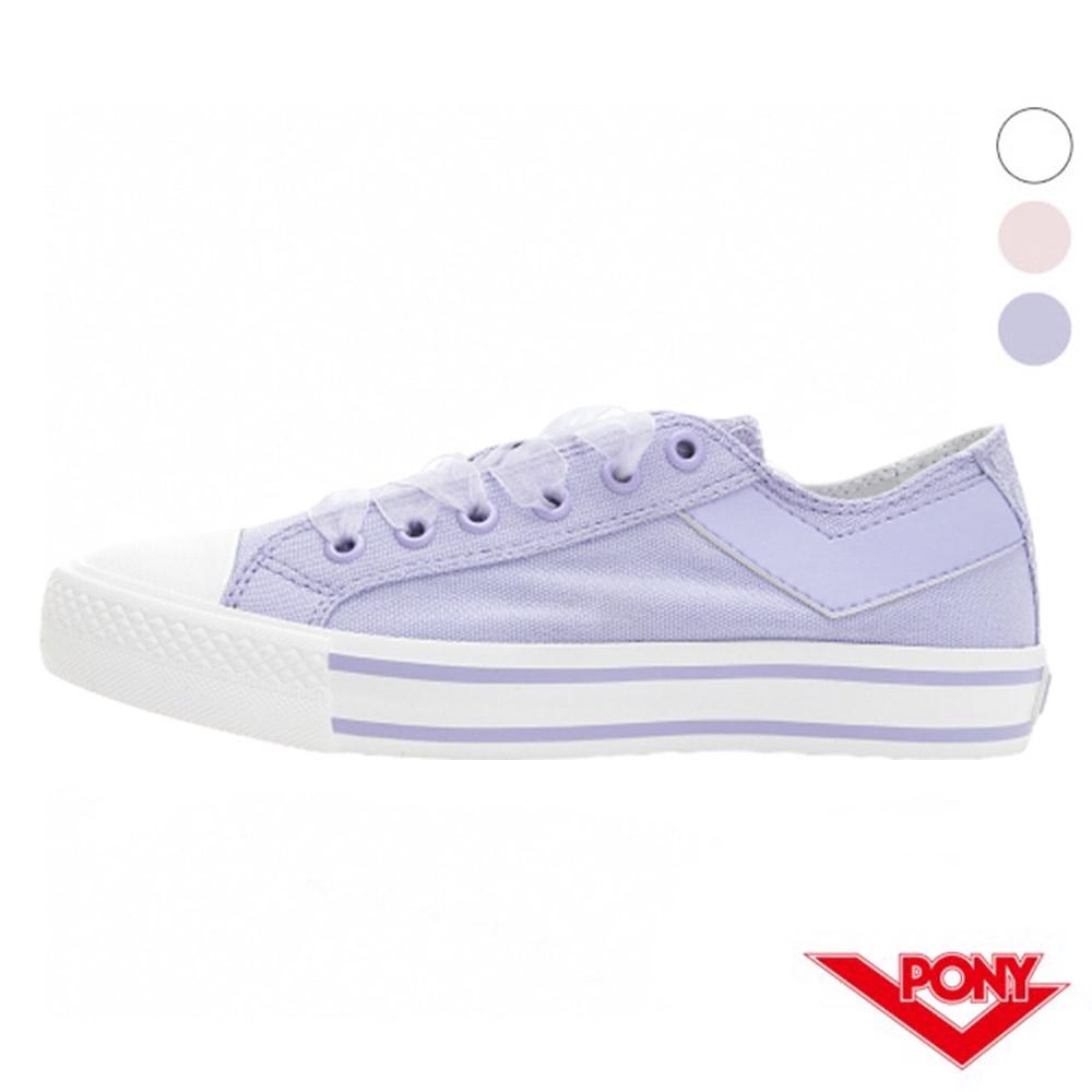PONY Shooter蕾絲厚底帆布鞋 女鞋 粉紅/粉紫/白