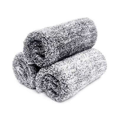 洗車タオル マイクロファイバークロス ふきん 万能掃除タオル 厚手 40×40cm、3枚セット