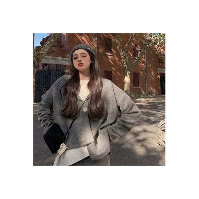 【送料無料】光 調理済み 風 ファッション セット 女 レトロ 気質 野生のセーター アウタ | 346770_A64195-5092299